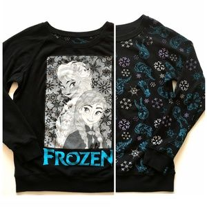 *3/$30* REVERSIBLE Disney Frozen Sweatshirt - M/L